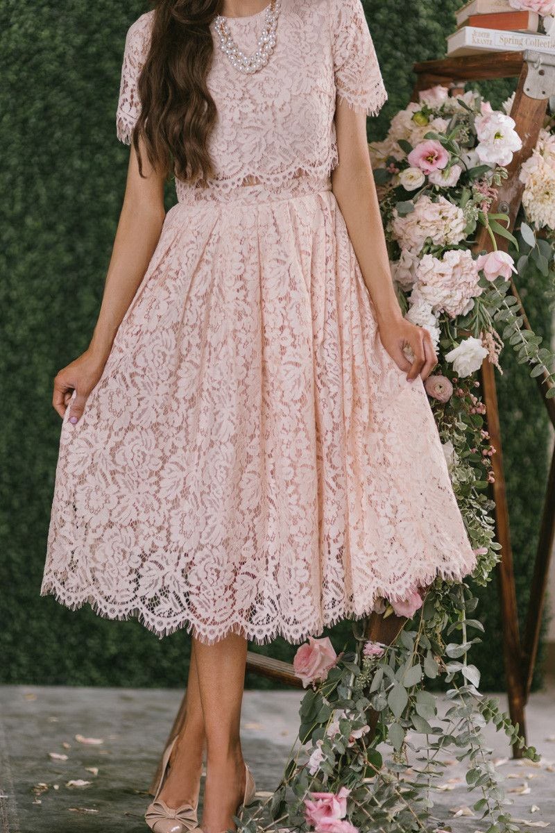 8dda5ce00bdc We finally found the dress of our dreams! This short sleeve blush midi dress  is flattering, romantic, and just plain gorgeous! The mesh midsection makes  ...