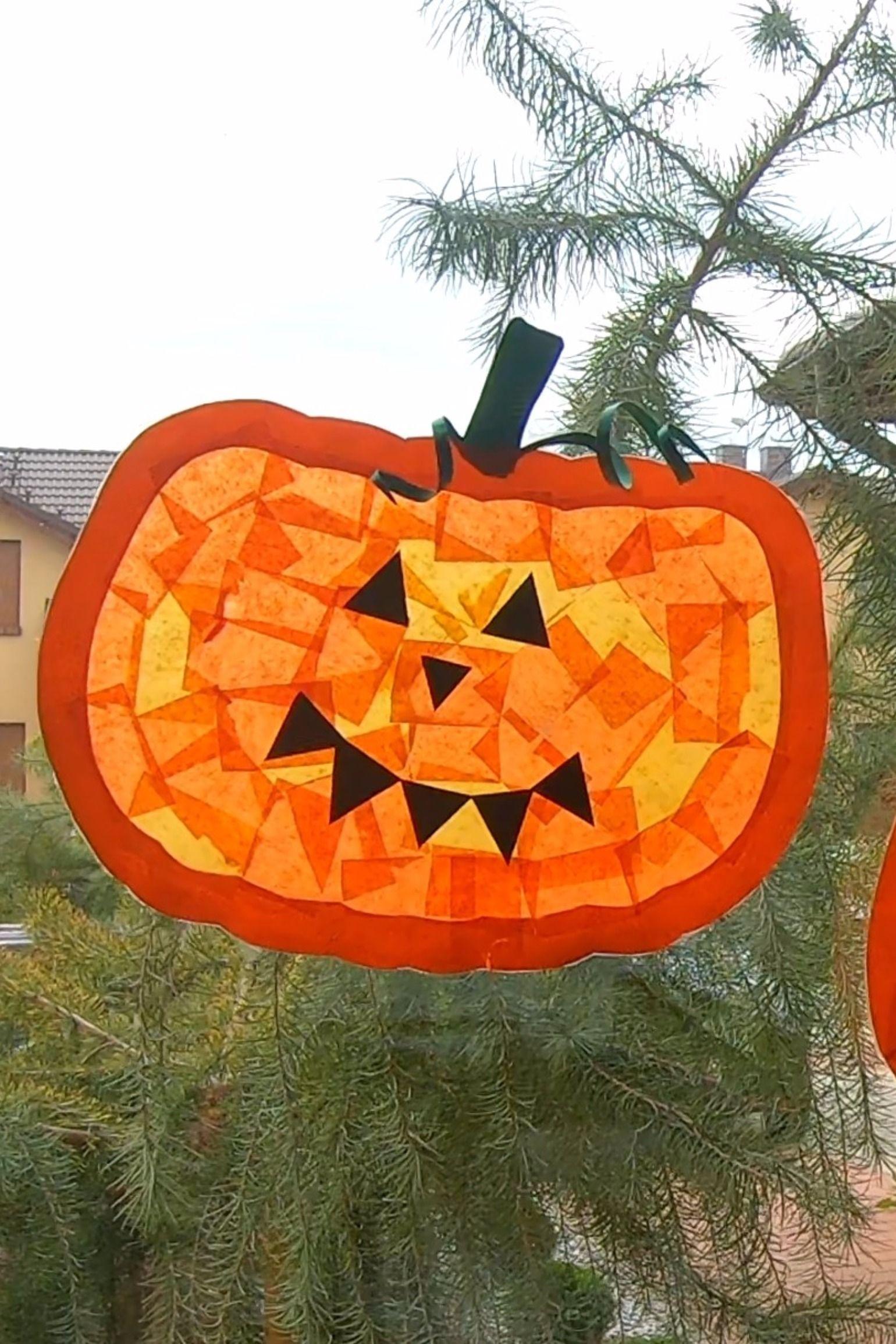 Witraz Z Dyni Na Hallowen Szablon Kids Halloween Picnic Basket