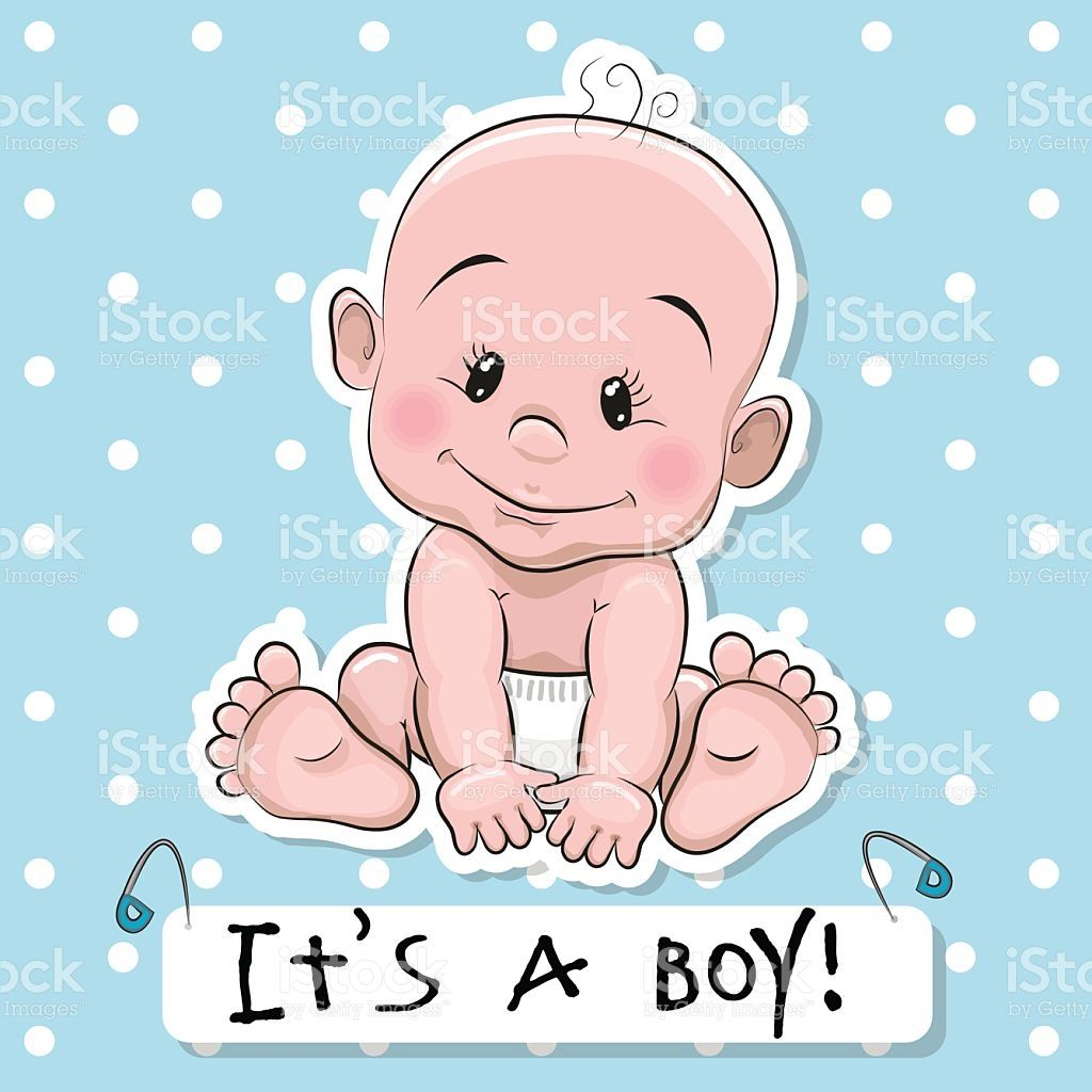 Greeting Card It S A Boy With Baby On A Blue Dots Background Baby Cartoon Baby Posters Baby Clip Art