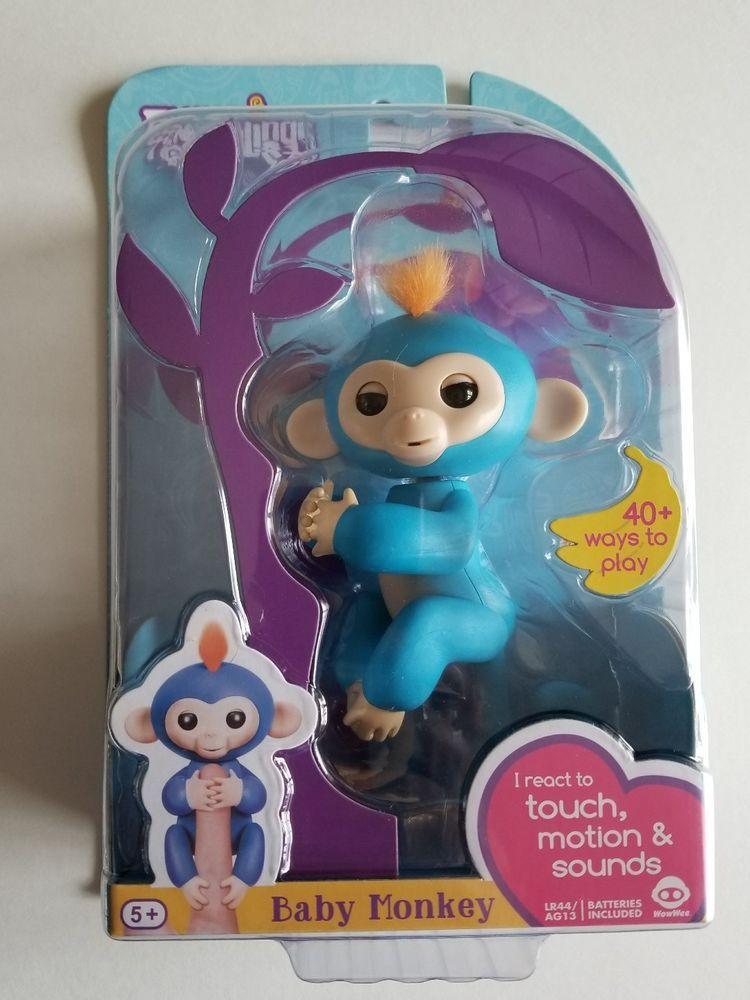Fingerlings Baby Monkey Boris Interactive Girl Boy Toy 5+ Blue  WowWee Motion   #WowWee