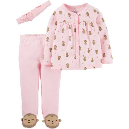 531fc78c4 Child Of Mine by Carter s Newborn Baby Girl Footed Pants