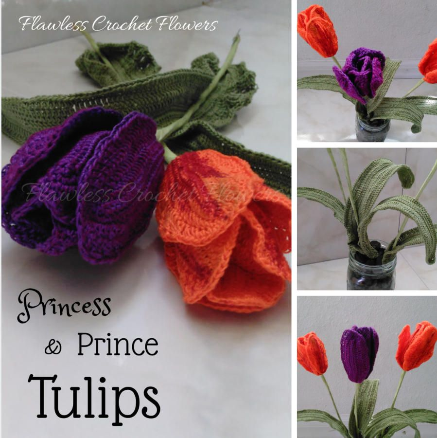 Prince princess tulips by flawless crochet flowers crochet 1 prince princess tulips by flawless crochet flowers bankloansurffo Images