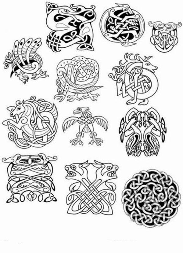 графика | живопись | Pinterest | Celta, Nudo celta y Vikingos