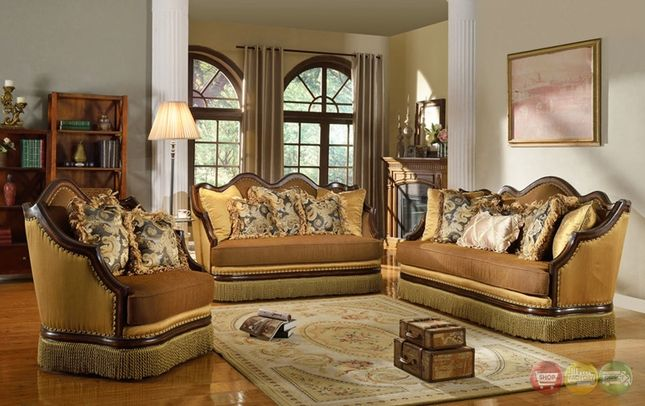 Best Rachelle Traditional Antique Style Formal Sofa Set 400 x 300