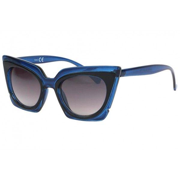 7465840c784300 Lunettes de soleil papillon bleu nuit Fauve fashion, classe et vintage pour  femme fashion