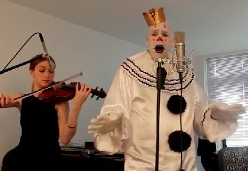 Sad clown covers sia song chandelier video song music pinterest sad clown covers sia song chandelier video mozeypictures Image collections