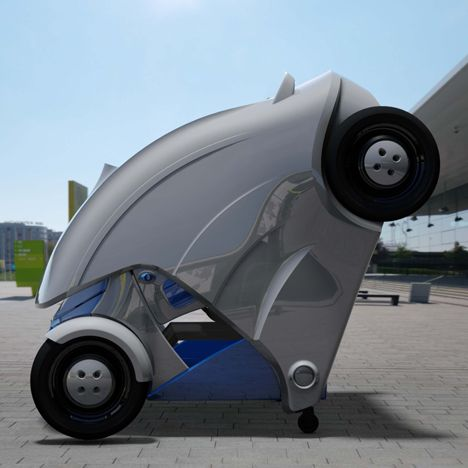 Armadillo T Foldable Micro Electric Car By Kaist Armadillo Cars