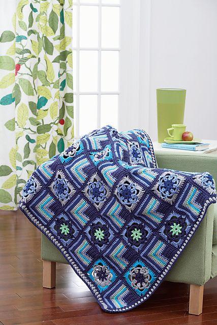 Ravelry: Crochet Motifs Afghan pattern by Bernat Design Studio