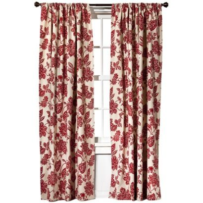 Target HomeTM Farrah Floral Window Panel Might Look Good In The Living Room Layered With