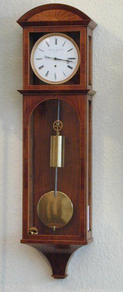 A Small 8 Day Vienna Regulator Timepiece Signed Franz