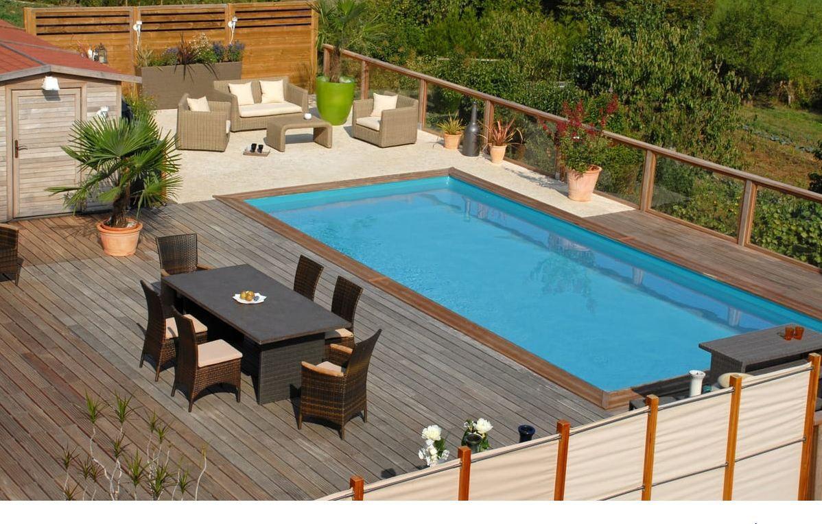 Robot Piscine Plan De Campagne sunbay piscine bois rectangulaire adelfi, piscine auchan