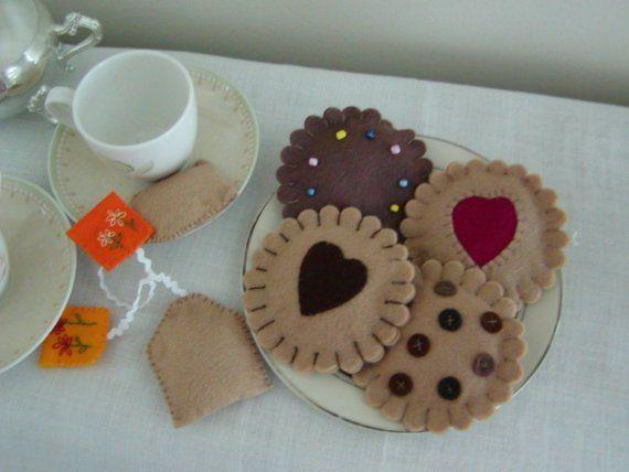Felt Cookies and Tea от Creativetouches1 на Etsy