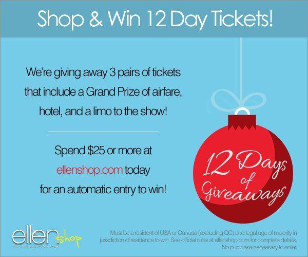 12 days ticket giveaways ellen