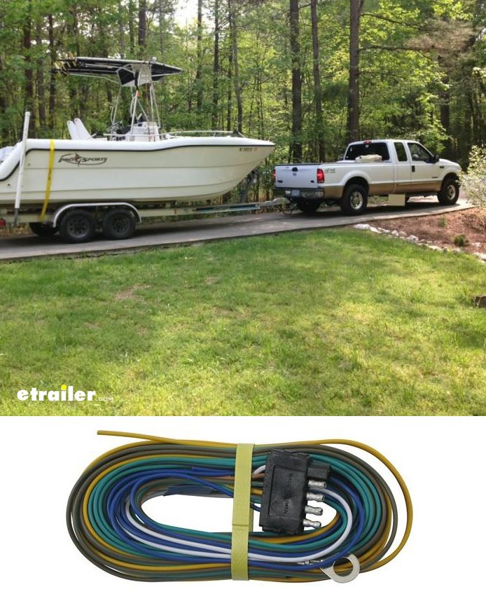 25 ft wishbone 5 way trailer harness with 30 ground and 5 ft blue rh pinterest com