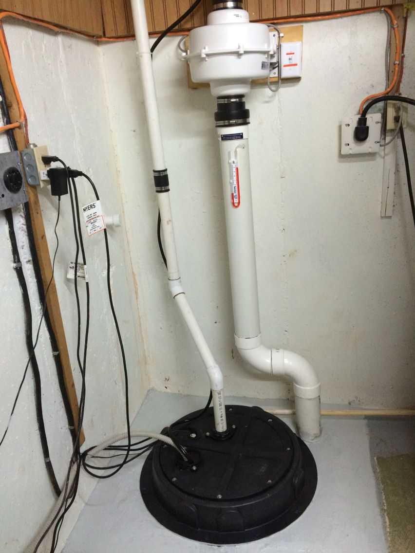 radon mitigation with radon sump dome cover. | around the house in