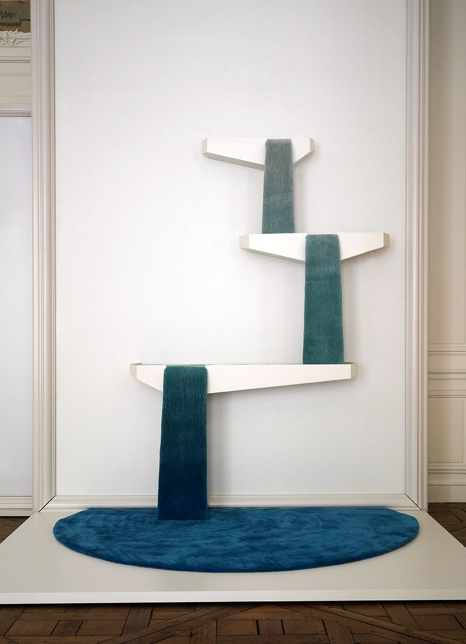 """Tai Ping Carpets """"From the Floor Up"""" installation with Fabrica - Reservoir Rug by Dean Brown"""