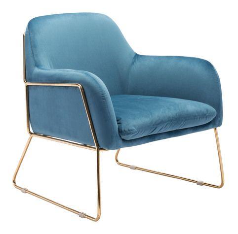 nadir arm chair blue velvet in 2018 products armchair blue rh pinterest com