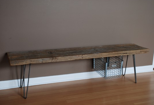 Luxury Distressed Wood Entry Bench