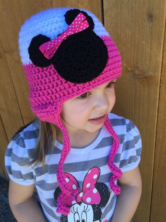Crochet bebé adulto niño ratón cabeza orejera gorro sombrero ...