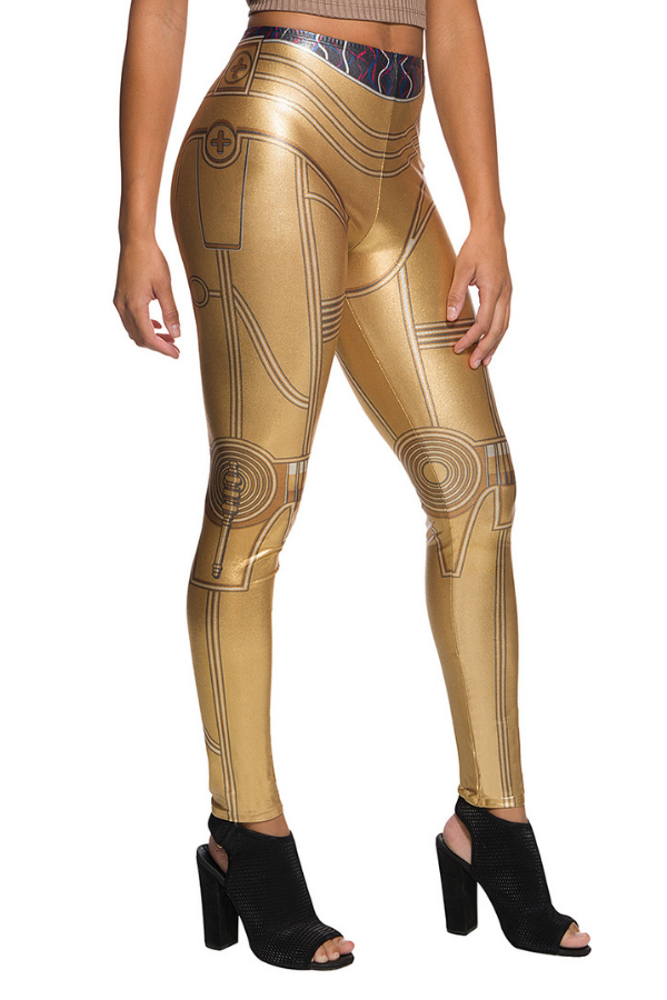 21195d1ecc This Star Wars inspired C3PO golden leggings is stunning. You'll be  programmed for etiquette, not destruction in these leggings that will leave  you feeling ...