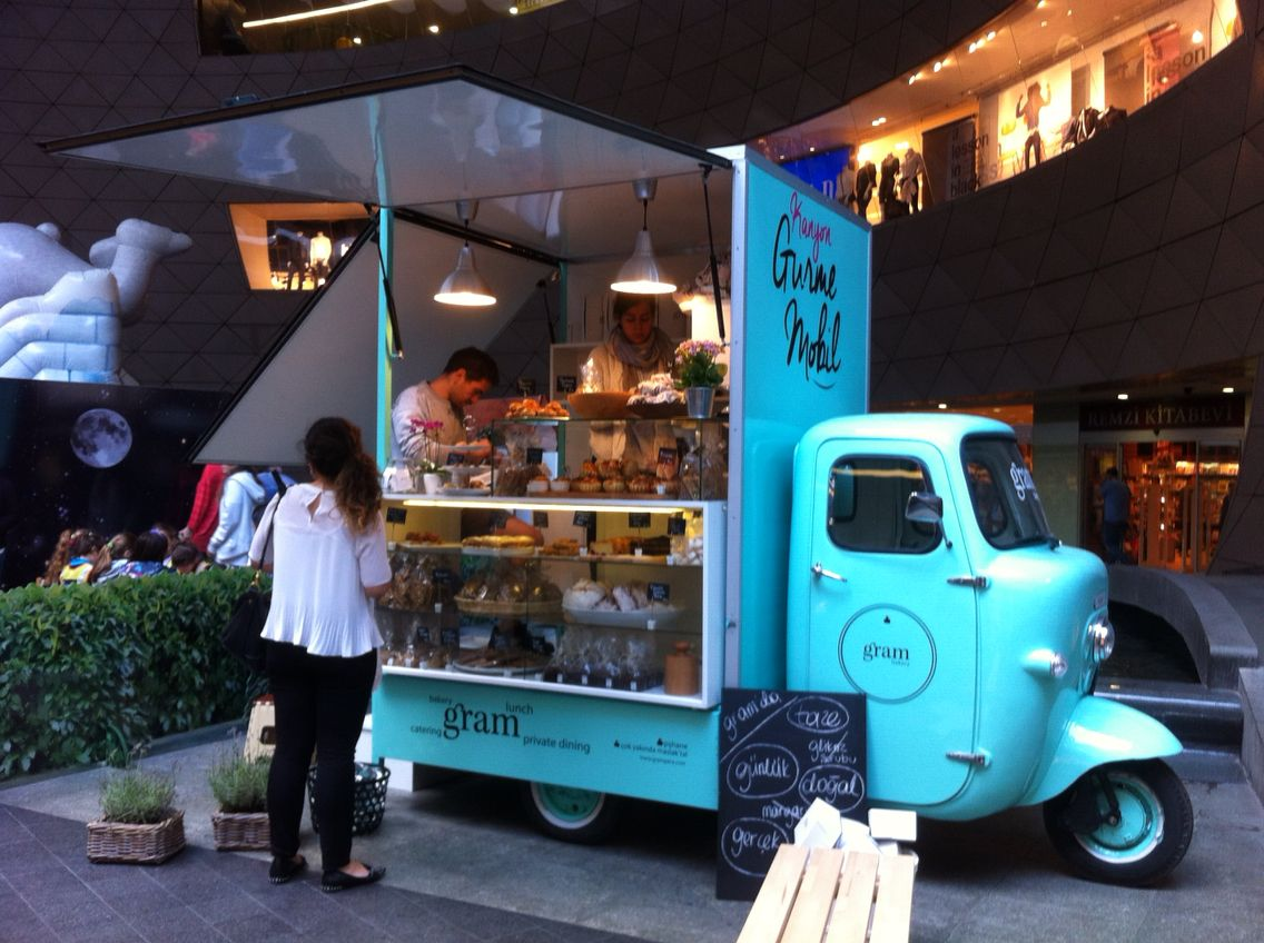 Yummie Food At This Bright Blue Stall In Istanbul Mall Called Kanyon Couldn