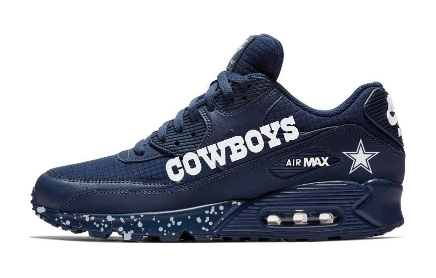 dallas cowboys custom nike air max shoes