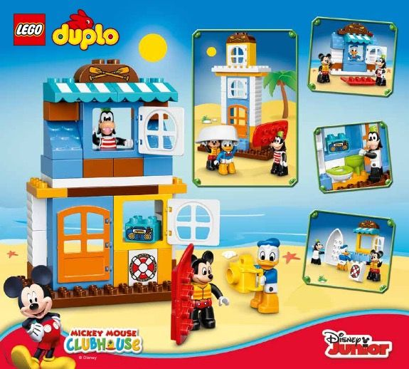 Duplo Mickey And Friends Beach House Lego 10827 Mickey And Friends Lego Mickey