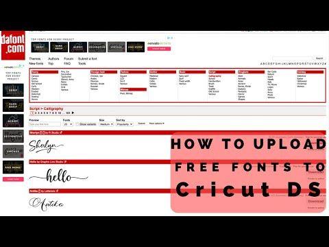 Download Easy How to download fonts from Dafont.com to Cricut ...