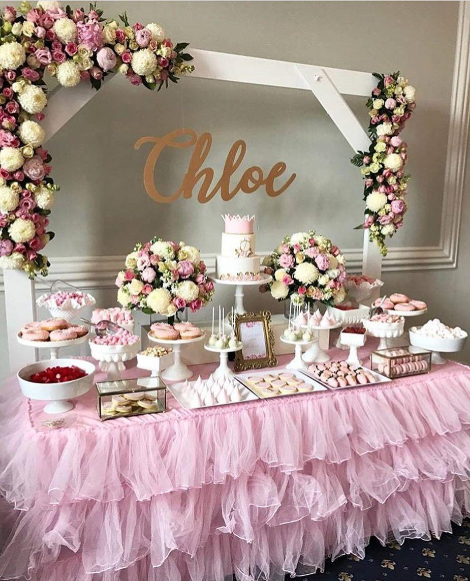 Plan Your Party With Us On Instagram Simple Yet Elegant Backdrop For This Rich Dessert Bar Dni Rozhdeniya Vecherinka Na Detskom Prazdnike Svadebnye Idei