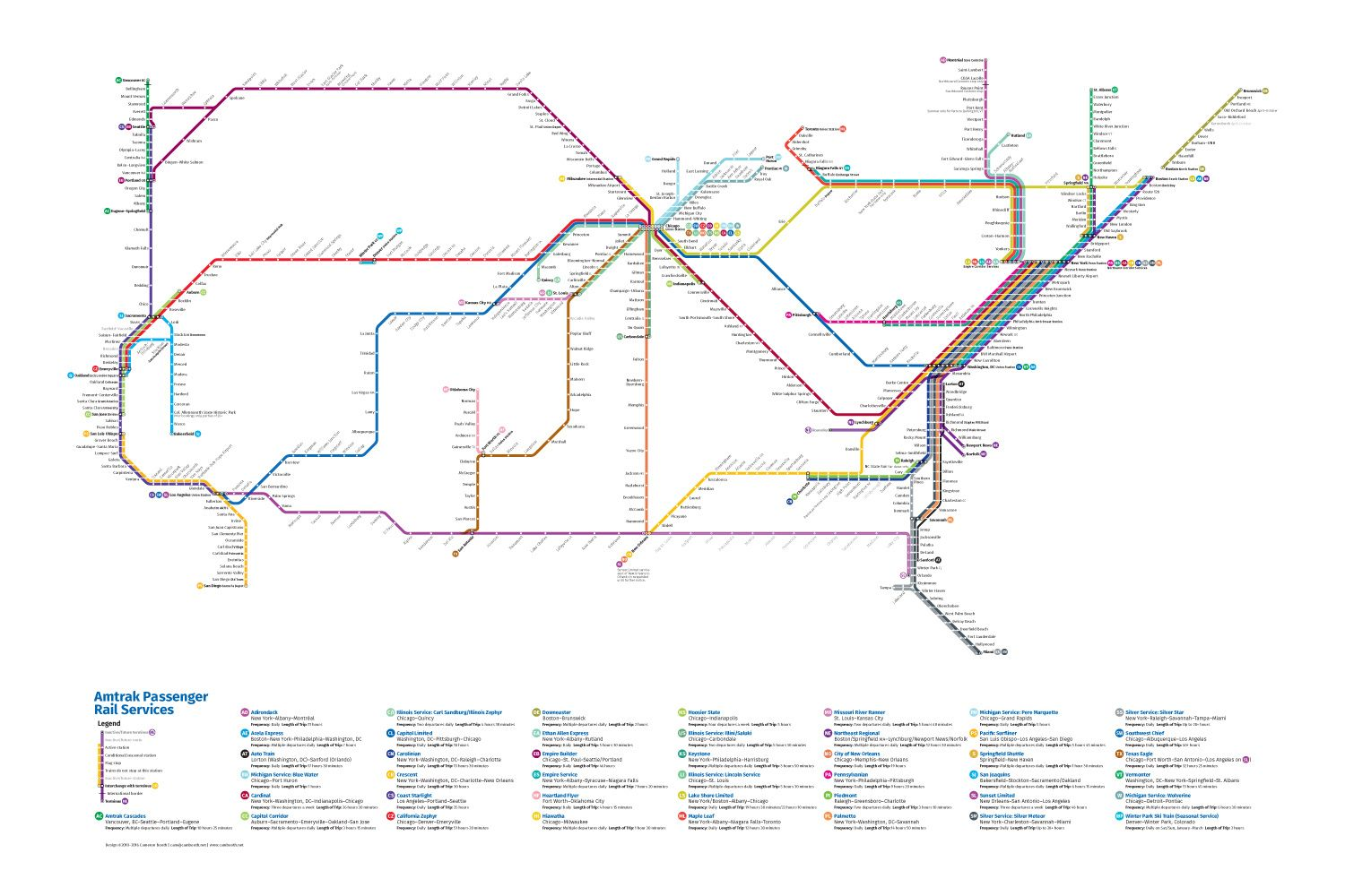 This Redesigned Map Of US Train Routes Might Make You Actually - Passenger train routes in us map