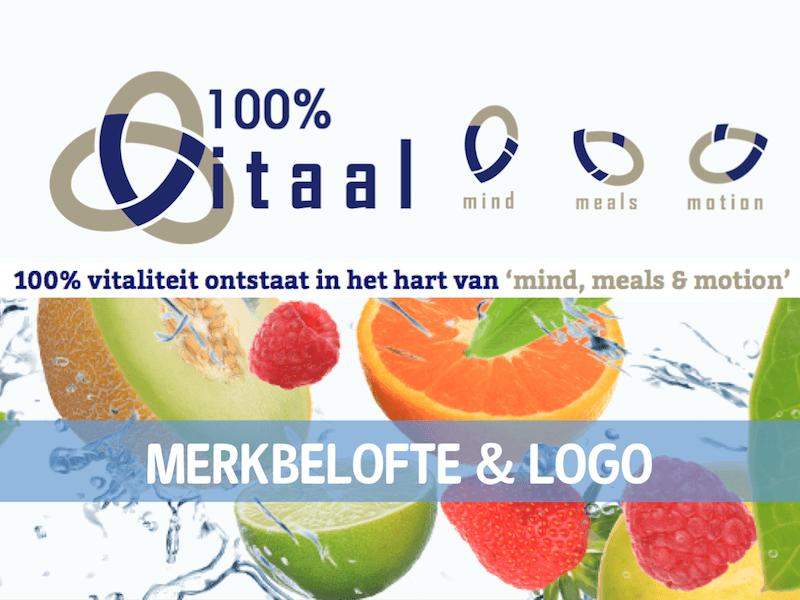 Case: Merkbelofte & logo voor 100% VITAAL in Bussum