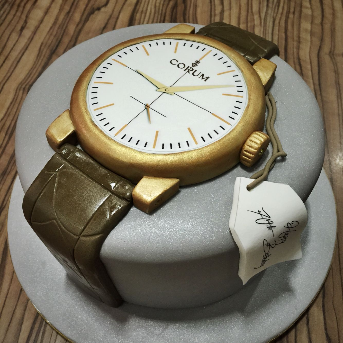 Brilliant Corum Mans Watch Birthday Cake By Bird Bakes Birthday Cake For Personalised Birthday Cards Arneslily Jamesorg