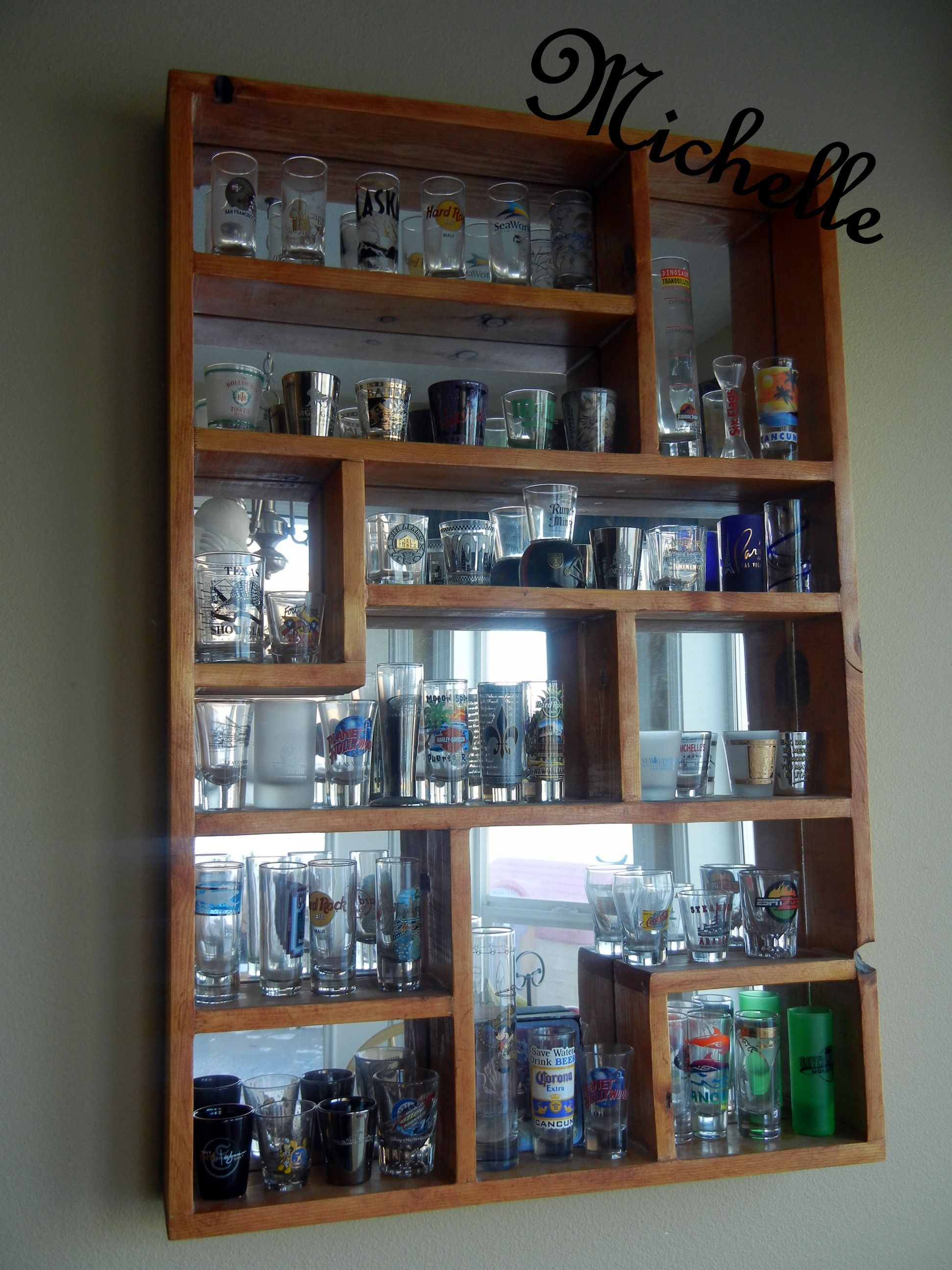 Unique Shot Glass Display Cases For Sale Manufactured From Steel Powder Coat Paint Interior Lighting Optio Glass Display Case Diy Display Shot Glass Holder