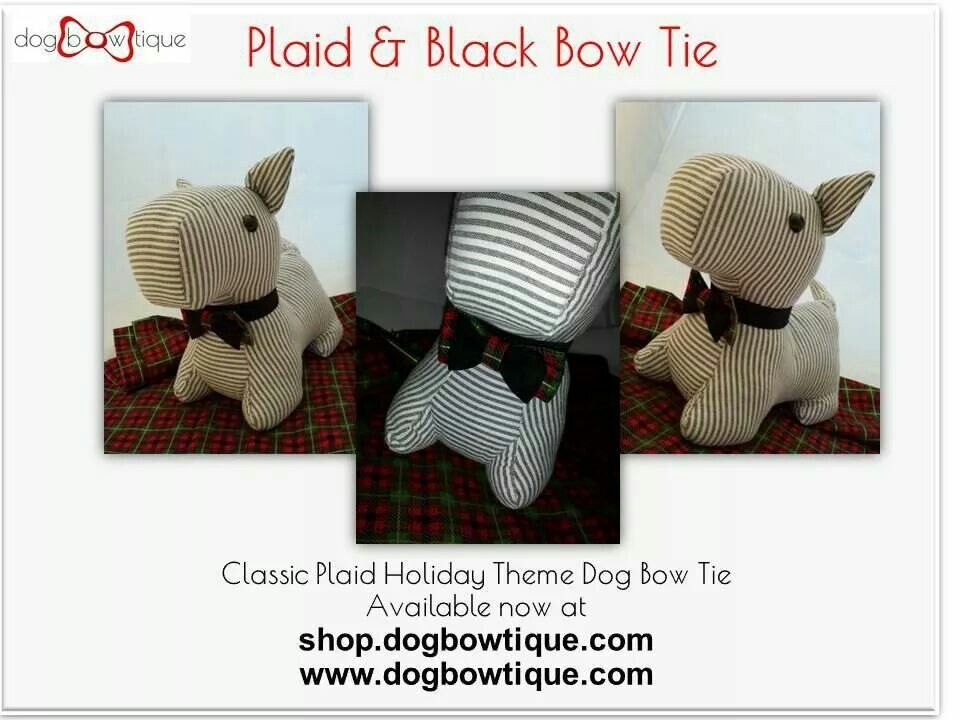 Dog Bowtique 2014 Winter Holiday Collection Is Now Available Accessories Holiday Pet Love Plaid Dog Bowtie Poodle Christmas Festi Bowtique Dogs Decor