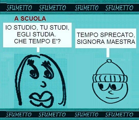 Barzellette Vignetta Battuta Divertente Ridere Umorismo Scuola