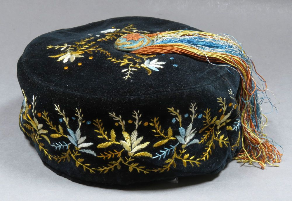Details About Antique Victorian Embroidered Velvet Smoking