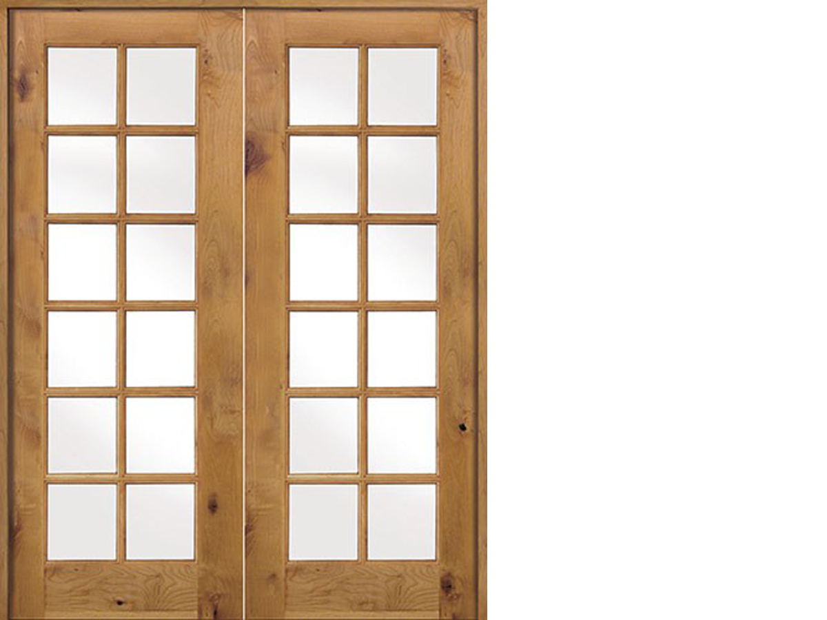 Krosswood Knotty Alder Int 12 Lite With Tempered Glass Double Doors Double Doors Interior Wood French Doors Exterior Exterior Doors