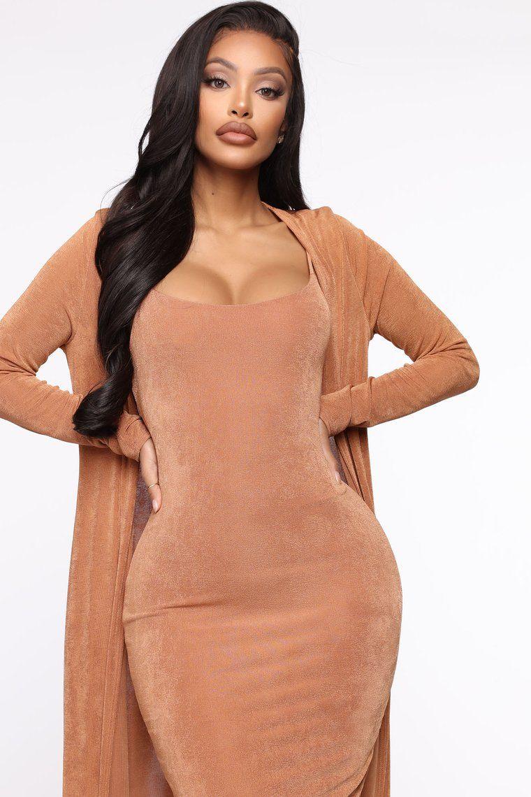 Sudden Chill Midi Dress Set Tan Set Dress Midi Dress Dresses [ 1140 x 760 Pixel ]