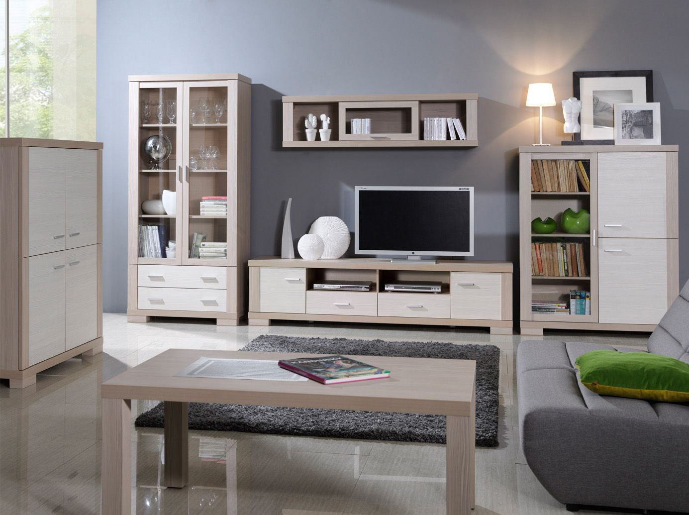 Oceanik 2 - oak and white television stands in 2019 | Modern ...
