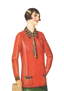 afed80d5 1926 Overblouse- A Thin Sweater for Warmer Climate. Sport blouses and  overblouses are another