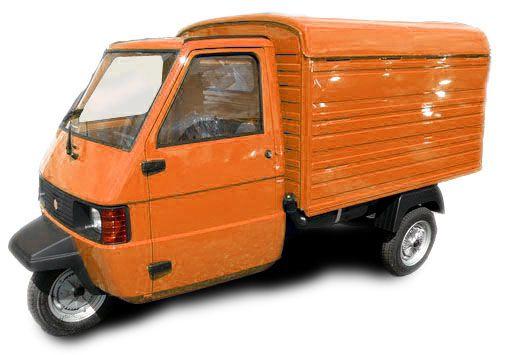 Piaggio Ape Tm Kasten Neufahrzeug Orange Itty Bitty