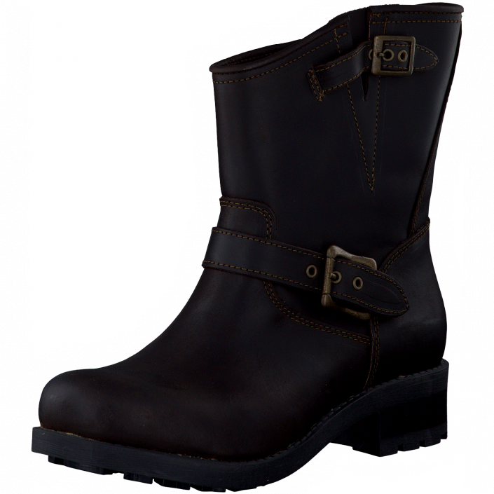 Emma 495 9469 Dark Brown | FOOTWAY | Boots, Kängor, Damast