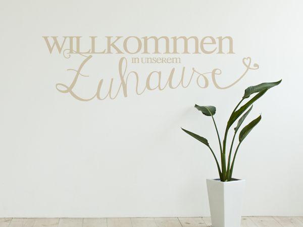 wandtattoo f r flur und diele willkommen in unserem zuhause for the home pinterest. Black Bedroom Furniture Sets. Home Design Ideas
