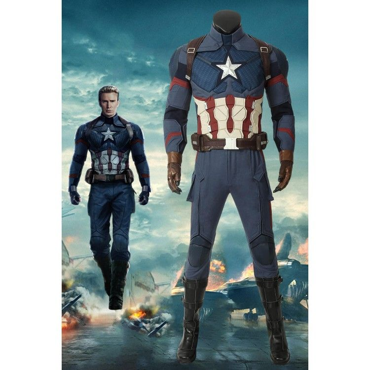 Avengers Endgame Captain America Steve Rogers Cosplay Costume Version 1