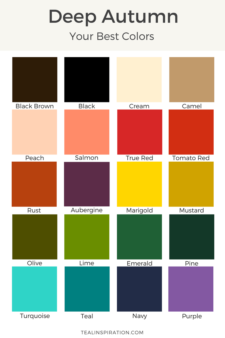 How to Find Your Best Colors #autumnseason