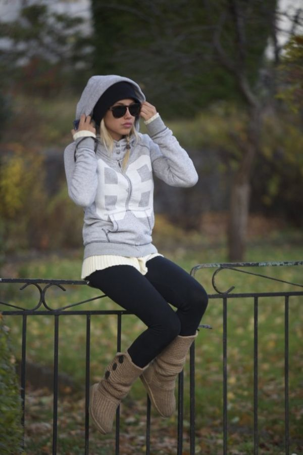 cute, cozy, comfy, and casual winter time outfit , black