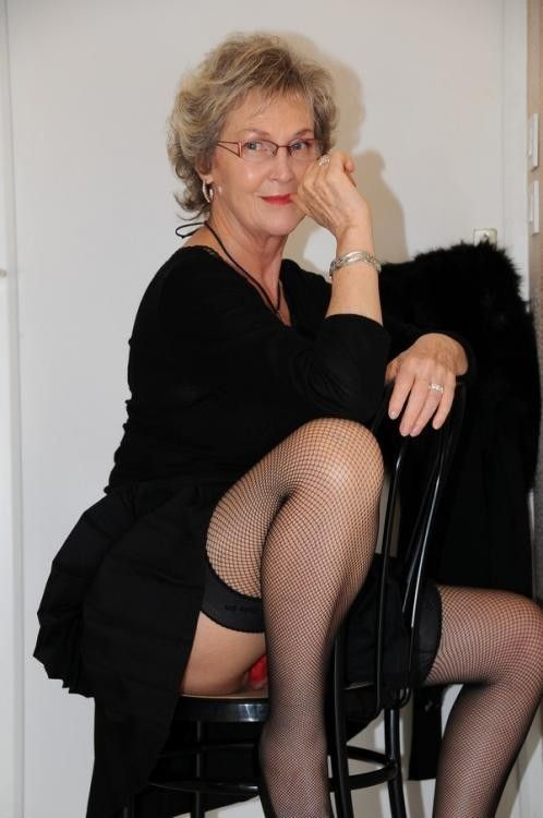 Mature women in fishnets