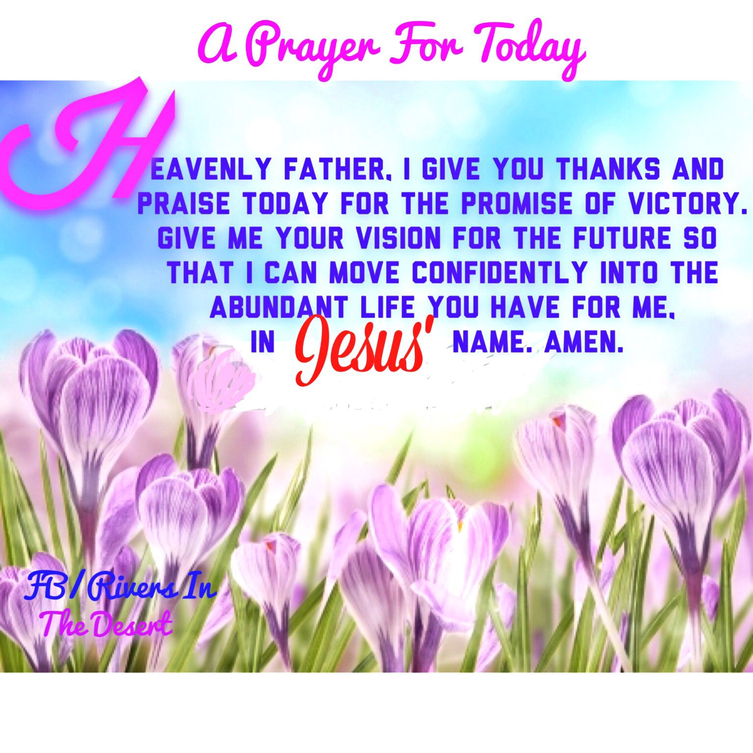 A prayer for today.