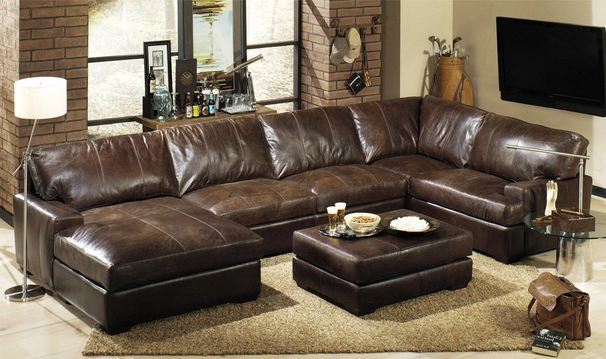 Leather Sectional Living Room Leather Sectional Living Room Ideas House Decor