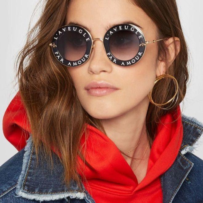 3bf780734c5 Auth Gucci 0113s L Aveugle Par Amour Sunglasses